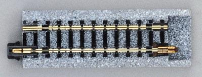 Kato USA Inc Snap Track Conversion Track 2-1/2'' 64mm pkg(2) -- N Scale Nickel Silver Model Train Track -- #20045
