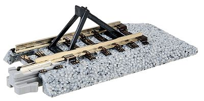 Kato USA Inc Straight Roadbed Bumper Unitrack - Style C -- N Scale Nickel Silver Model Train Track -- #20048