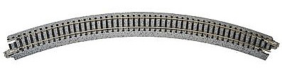 Kato USA Inc Curved Roadbed Track Section Unitrack 45-Degree -- N Scale Nickel Silver Model Train Track -- #20120