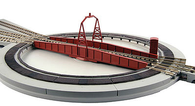 Kato USA Inc Electric Turntable - Unitrack - Kit -- N Scale Nickel Silver Model Track -- #20283