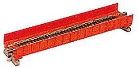 Kato Single Plate Girder Bridge - 186mm (7 5/16), Red N Scale Model Railroad Bridge #20450