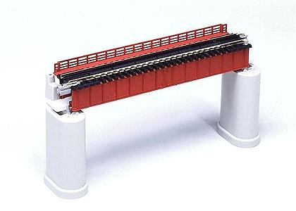 Kato USA Inc Deck Girder Bridge - 4-31/32'' 124mm Long (red/rust) -- N Scale Model Railroad Bridge -- #20460