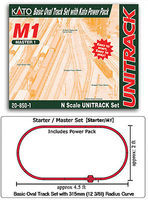 Kato Unitrack M1 Basic Oval Track Starter Set N Scale Nickel Silver Model Train Track #208501
