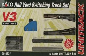 Kato Unitrack V3 Rail Yard Switching Track Set N Scale Nickel Silver Model Train Track #208621