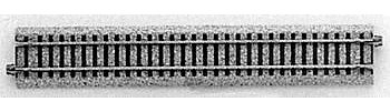 Kato USA Inc Straight Roadbed Track Section Unitrack 9-3/4'' -- HO Scale Nickel Silver Model Train Track -- #2150