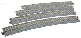 Kato Superelevated Curve Track w/Concrete Ties HO Scale Nickel Silver Model Train Track #2241