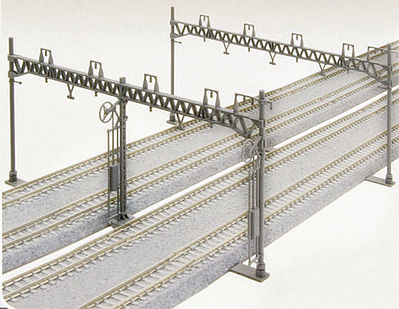 Kato USA Inc Four Track Catenary Poles Straight (10) -- N Scale Model Railroad Trackside Accessory -- #23064