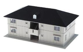 Kato Residential Structure Series - Assembled Roselle Road House (tan) - N-Scale
