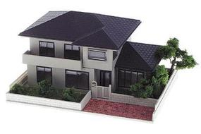Kato Residential Structure Series - Assembled 630 E. Liberty Street (brown) - N-Scale