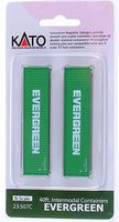 Kato 40 Corrugated Container 2-Pack Evergreen (green) - N-Scale (2)