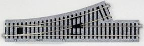 Kato Manual Turnout - Unitrack - Left Hand 9-3/4 HO Scale Nickel Silver Model Train Track #2840