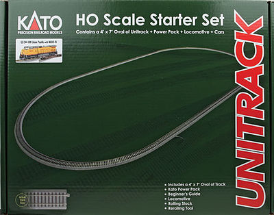 Kato USA Inc Starter Set GE C44-9W Union Pacific -- HO Scale Model Train Set -- #302010