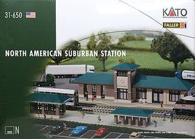 Kato North American Suburban Station - Kit N Scale Model Railroad Building #31650