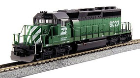 Kato EMD SD40-2 Mid-Production - Standard DC Burlington Northern #8023 (Cascade Green, white, black)