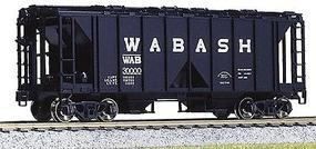 Kato ACF 70 Ton Open Side Covered Hopper (3) Wabash HO Scale Model Train Freight Car #380205