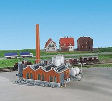 Kibri Warehouse Building Kit (Includes Smoke Stack & Storage Tanks) Z Scale Model Railroad #36764