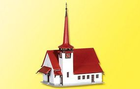Kibri Church with Red Roof Kit Z Scale Model Railroad Building #36815