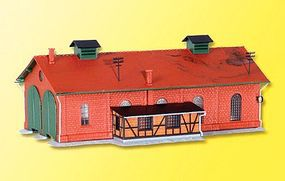 Kibri Locomotive shed double - N-Scale