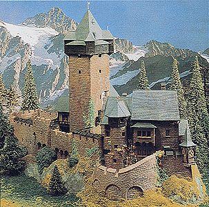 Kibri Falkenstein Castle Ho Scale Model Railroad Building