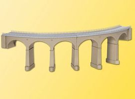 Kibri Curved Stone Rosanna-Viaduct (Single Track 90 Degrees) HO Scale Model Railroad Bridge #39726