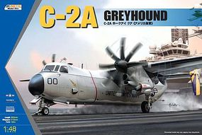 Kinetic-Model USN C2A Greyhound Twin-Engine Cargo Aircraft Plastic Model Airplane Kit 1/48 Scale #48025