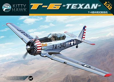 Kitty Hawk Models T6G Texan Aircraft -- Plastic Model Airplane Kit -- 1/32 Scale -- #32001
