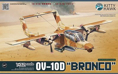 Kitty Hawk Models OV10D Bronco Turboprop Light Attack Aircraft -- Plastic Model Airplane Kit -- 1/32 Scale -- #32003