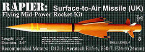 Launch-Pad Rapier S.A.M. Pro Level Model Rocket Kit #14