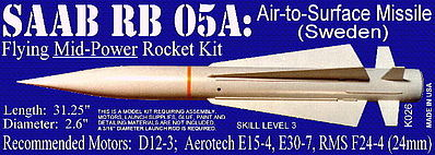 Launch Pad Rocket Kits SAAB RB 05A Skill 3
