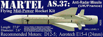 Launch Pad Rocket Kits MARTEL AS.37 Skill 3