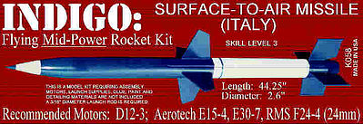 Launch Pad Rocket Kits INDIGO S.A.M. Skill 3