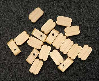Latina Ship Models Single Block 7mm (15) -- Wooden Boat Model Accessory -- #8515