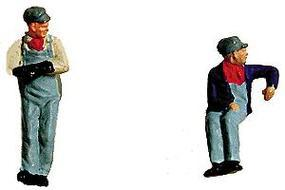 Labelle Engineer & Fireman (Slouching & Leaning) HO Scale Model Railroad Figure #7001