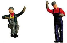 Labelle Engineer & Fireman (Waving & Sitting) HO Scale Model Railroad Figure #7002
