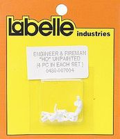 Labelle Engineer & Firemen (Waving, Sitting, Slouching, Leaning) HO Scale Model Railroad Figure #7004