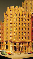 lds Century Plaza Kit - 4 1/8 x 3 3/8 x 8 3/8 High - N-Scale