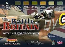 Lifecolor The Battle of Britain Royal Air Force Colors Acrylic Set (6 22ml Bottles)