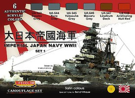 Lifecolor Imperial Japan Navy WWII Set #1 Acrylic Set (6 22ml Bottles)