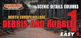 Lifecolor N. Europe Village Debris & Rubble Scenic Details Color #1 Acrylic Set (3 22ml Bottles)