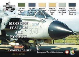 Lifecolor Italian Modern Air Force Camouflage Acrylic (6 22ml Bottles) Hobby and Model Paint Set #xs7