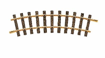 LGB (bulk of 12) R1 Curved Track 30-Degree 4'3'' Diameter (Bulk of 12) -- G Scale Brass Model Train Track -- #11000