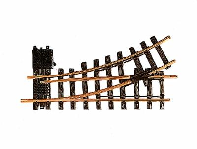 LGB R1 30-Degree Manual Left Hand Turnout 4' 3'' Diameter -- G Scale Brass Model Train Track -- #12100