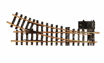 LGB R3 Right Electric Turnout 22.5 Degree 8' 2'' Diameter -- G Scale Brass Model Train Track -- #16050