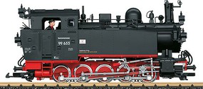 LGB Class 99.6 0-10-0T w/Sound, DCC & Smoke German State Railroad DR #99 653 (Era III, black, red) - G-Scale