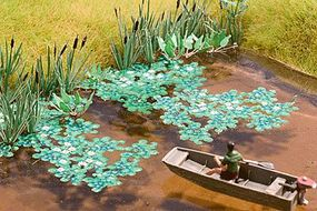 Life-Like Lily Pads SceneMaster Botanicals Kit Model Railroad Grass Earth HO Scale #1069