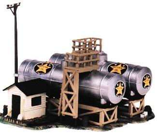 Life-Like National Oil Co. Kit -- Model Train Building -- HO Scale -- #1331