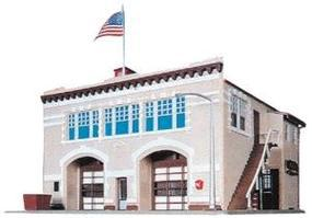 Life-Like Hampden Fire Engine House #46 Kit Model Train Building HO Scale #1390