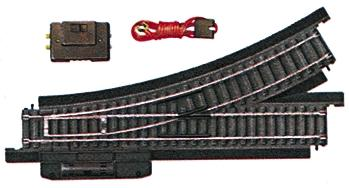 Life-Like Remote Control Turnout Power-Loc(TM) Right Hand -- Model Train Track Steel -- HO Scale -- #21305