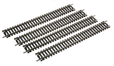 Life-Like 9'' Straight Track (4) Code 100 Nickel Silver -- Model Train Track -- HO Scale -- #3001