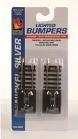 Life-Like Lighted Bumpers 2 Pack Code 100 Nickel Silver Model Train Track HO Scale #3008